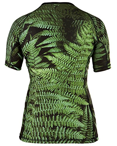 Rule Out Short Sleeve Rash Guard Top. Femmes. Gym. Taining. Sportswear. Running. Cycling. Forest. Fern leaves. Motivation. Women Colection. Compression T-shirt. MMA Fightwear