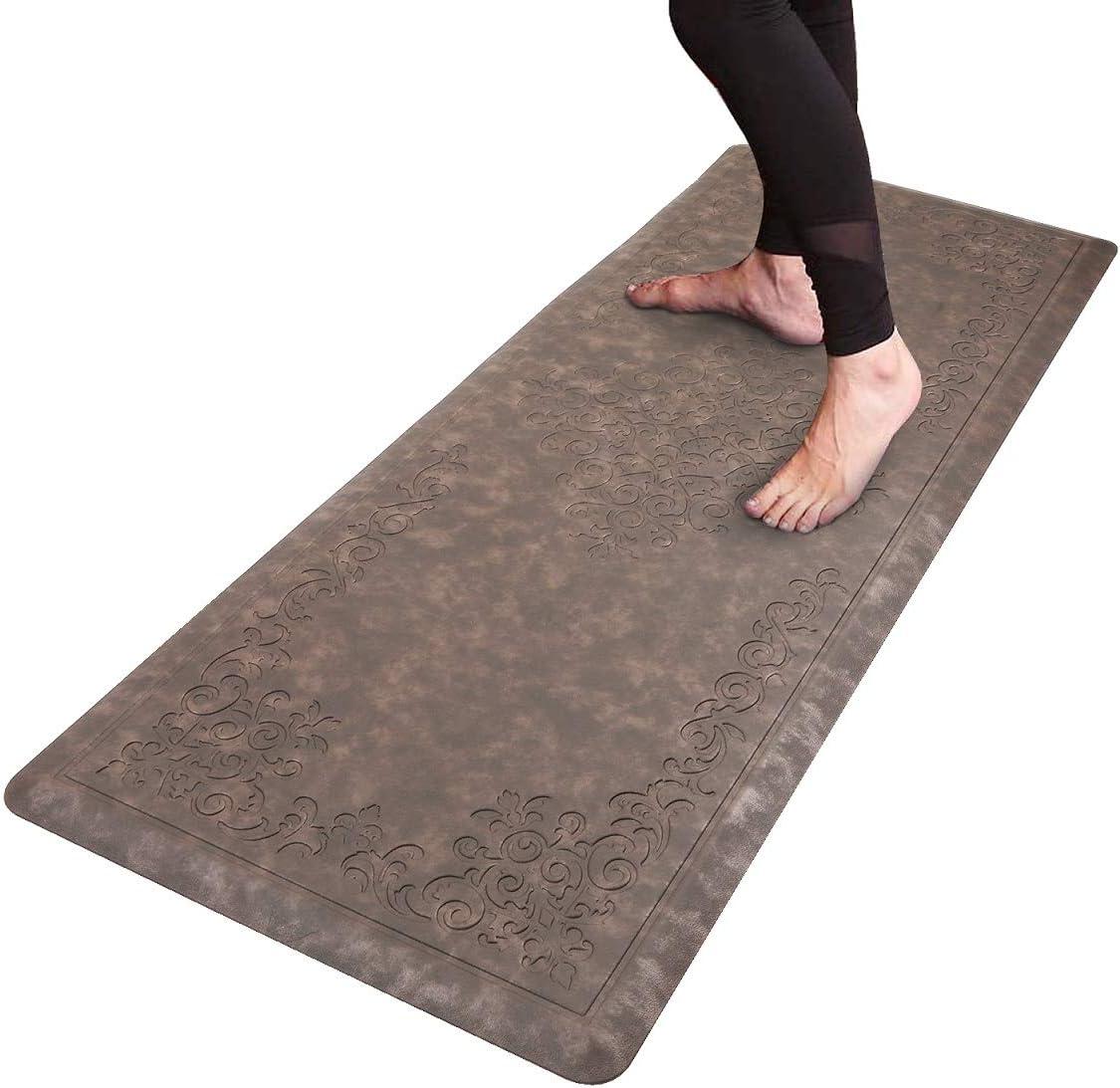 "HEBE Kitchen Mat Cushioned Anti-Fatigue Floor Mat Runner Waterproof Non-Slip Standing Mat Ergonomic Comfort Floor Mat Rug Runner for Office,Sink,Laundry,Desk,20""x52"""