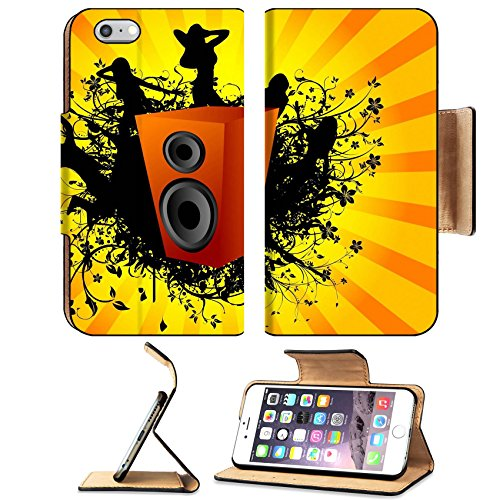 Liili Premium Apple iPhone 6 Plus iPhone 6S Plus Flip Pu Leather Wallet Case IMAGE ID: 3300353 dance arround speaker on sunburst - Diy Sunburst