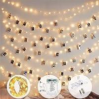 إضاءة سلسلة مشابك صور 10 متر 100 مصباح ليد ذات 8 أوضاع تعمل بالبطارية ووصلة يو أس بي لتعليق الصور والبطاقات والمذكرات…