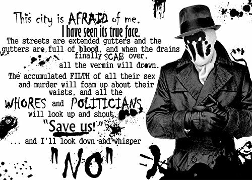 imagenation WATCHMEN 'RORSCHACH QUOTE' professional 260gsm