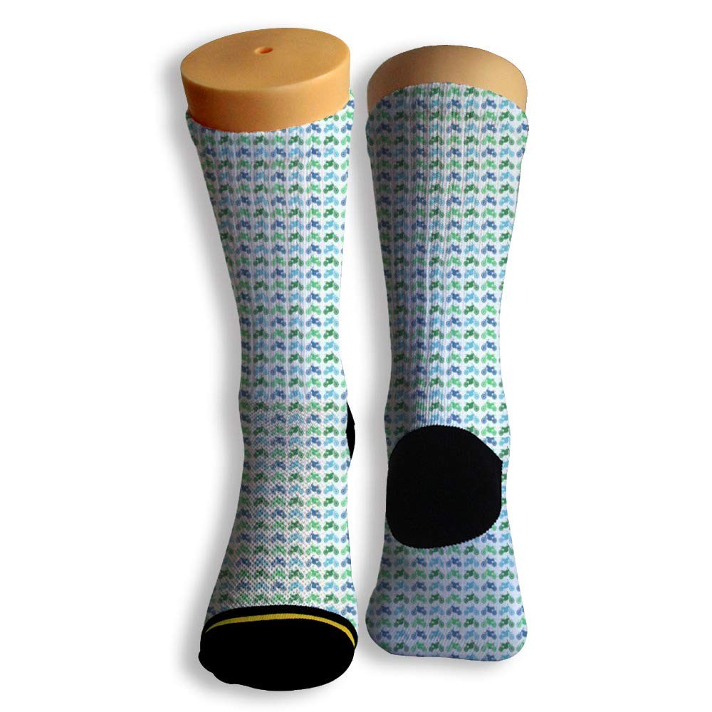 Basketball Soccer Baseball Socks by Potooy Antique Motorcycle Poster 3D Print Cushion Athletic Crew Socks for Men Women