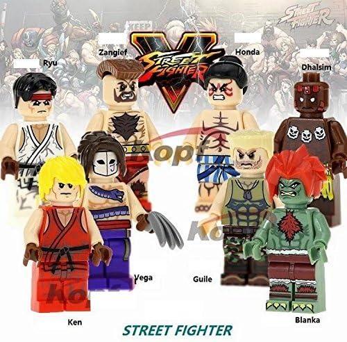Ryu Ken Guile Honda Chun-Li Blanka Zangief Dhalsim Street Fighter Minifigures
