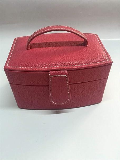 Gu3Je Joyero Joyería Caja de joyería cosmética Caja de Regalo para Guardar Joyas (Color : Rosy, Size : 15.5x11x9cm): Amazon.es: Hogar