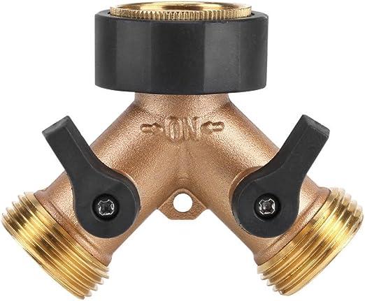 "3//4/"" 2 Way Y Shaped Garden Tap Hose Adapter Connector Adaptor Hose Pipe Splitter"