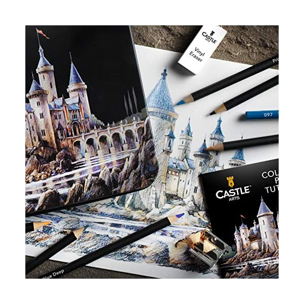 Castle Art Supplies 120 Colored Pencils Set for Adults Artists Professional   Featuring soft series core for expert… 6
