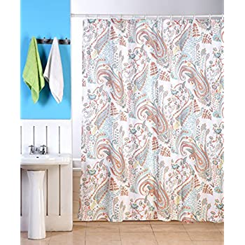 Amazon Com Nicole Miller Fabric Shower Curtain Cotton