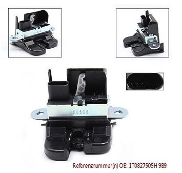 Yiyiby - Cerradura para puerta de maletero trasero 1T0827505H para vehículo con cierre centralizado V.W TOURAN 1T1 1T2 1T3: Amazon.es: Coche y moto