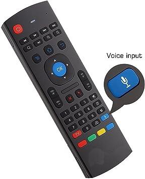 YFish Mando a Distancia con Mini Teclado Universal Inalámbrico 2 en 1 Sirve como Ratón Air