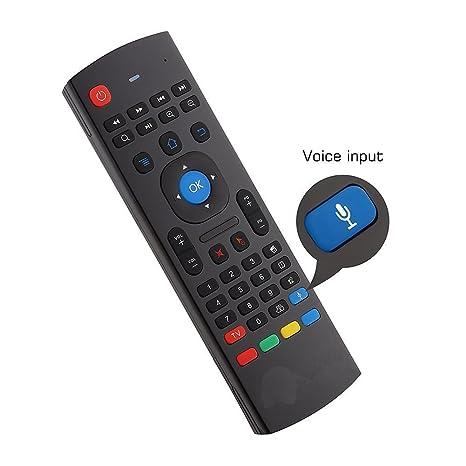 YFish Teclado mini y Control Remoto Inalámbrico 2 en 1 Sirve como Ratón Air Mouse Inteligente ...