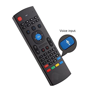 YFish Teclado mini y Control Remoto Inalámbrico 2 en 1 Sirve como Ratón Air Mouse Inteligente