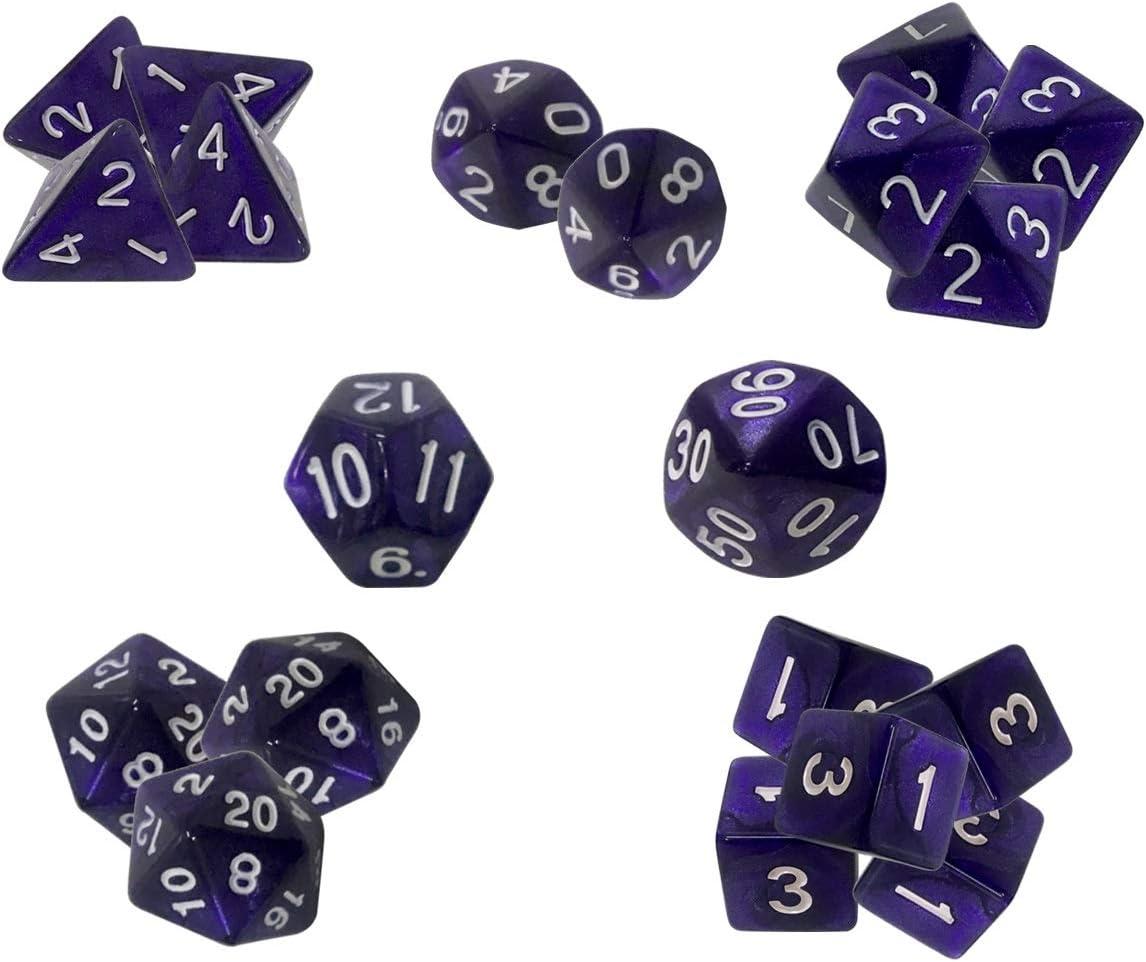 Accesorios para Juegos de rol para Mazmorras y Dragones Juegos de rol de MTG y de Mesa The Grinning Gargoyle DND Ultimate Gaming Dice Set 20 Piezas Kit de Troqueles Esenciales poli/édricos