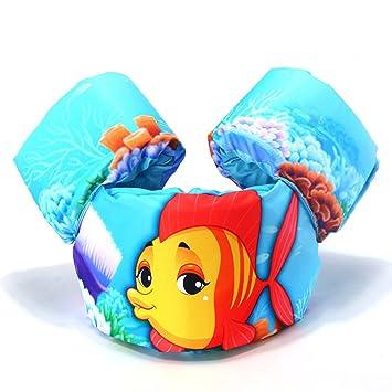 mimieyes Puddle Jumper natación seguridad ayuda flotadores de brazo inflable nadar chalecos, Fish