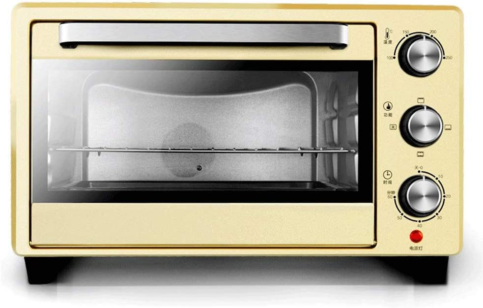 LQRYJDZ Toaster Oven, 23L Household Baking Function, Pizza Maker Toast Baking Cake, Large Capacity Electric Oven, Oven with Baking Pan Broil Rack -1400(W),60 Minute Timing