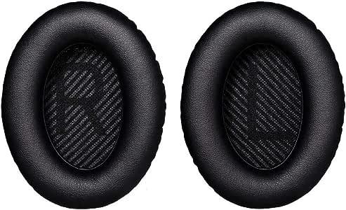 Cosyplus Ear Cushions for Bose Quiet Comfort 35 (QC35) and QuietComfort 35 II (QC35 II) Headphones (QC35/QC35 II Ear Pads, Black)