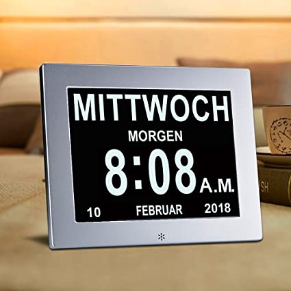 Nivelador SUPERWORLD de metal, 8 inch. Reloj digital con calendario y fecha. Funda