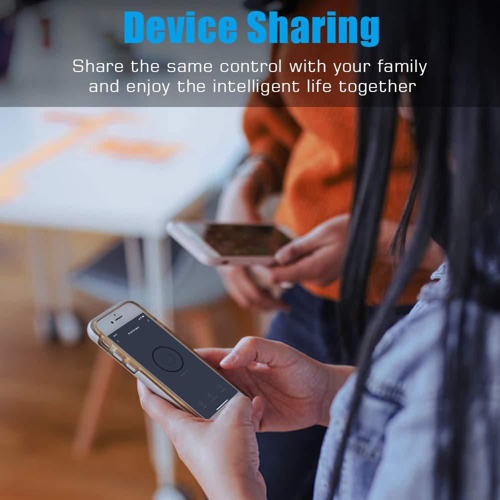 Gris Lot de 2 MoKo Interrupteur WiFi Intelligent Commutateur de lumi/ère T/él/écommande on-Off sans Fil Contr/ôleur/de Minuterie pour Appareil M/énager pour Alexa Echo Google Home et IFTTT