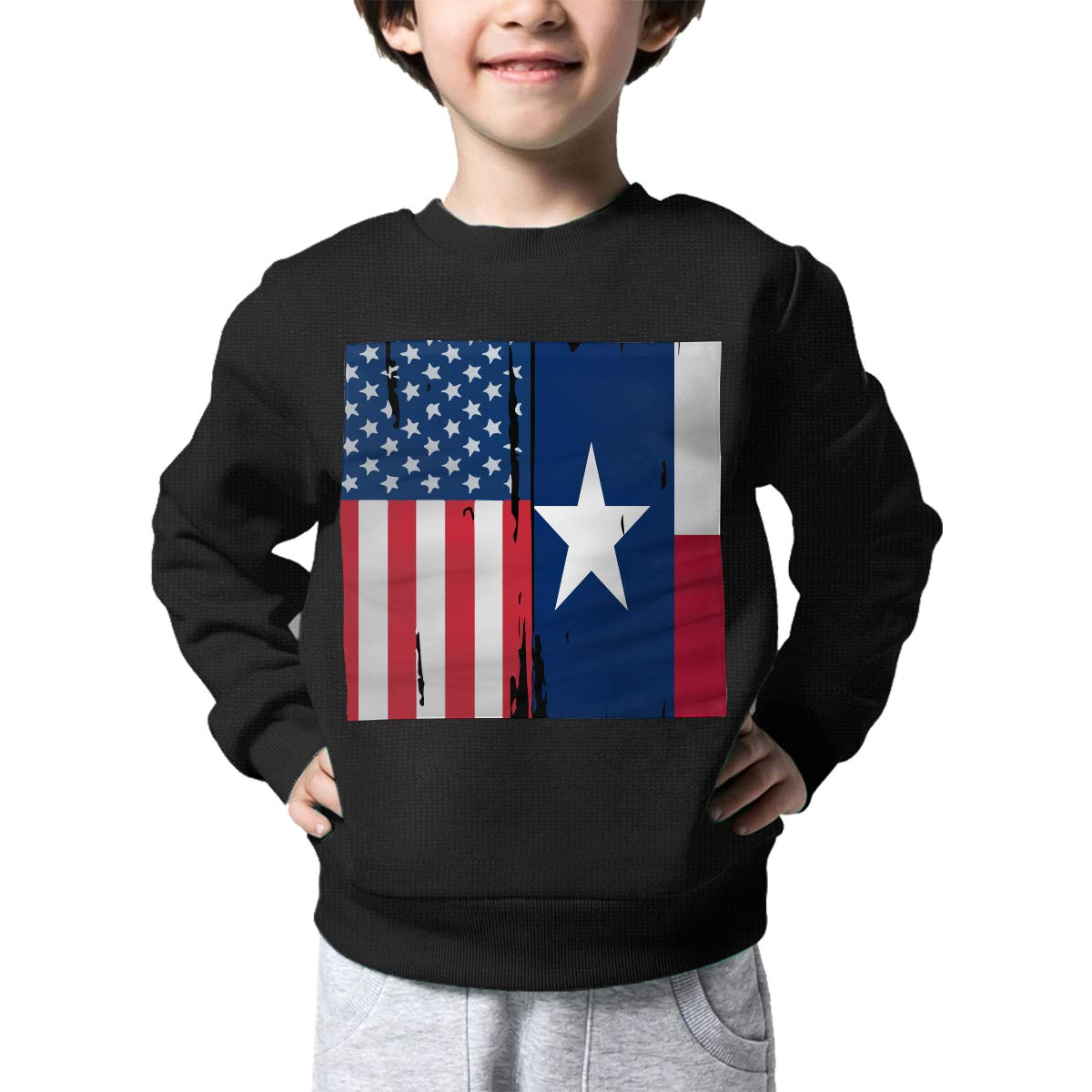 NJKM5MJ Boys Girls American Texas Flag Lovely Sweaters Soft Warm Childrens Sweater