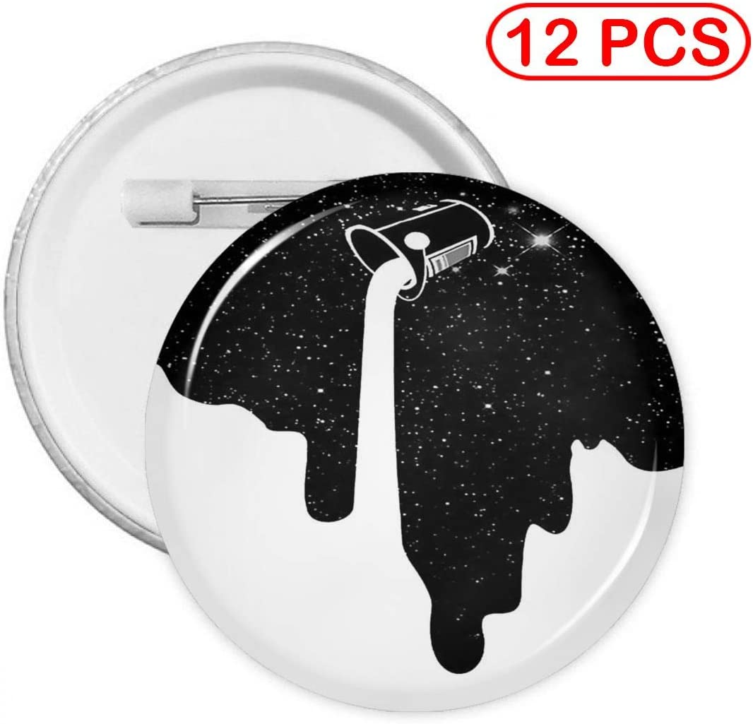 YXXZ Space Milk Pour Out Round Badge Brooches and Pins Accessories Multiple Packs