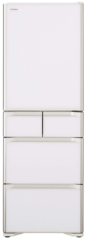 冷蔵庫 日立 右開き 真空チルド 501L R-S5000H クリスタルホワイト まんなか冷凍室 新鮮スリープ野菜室  501L 5ドア B075XKNNK2 XW