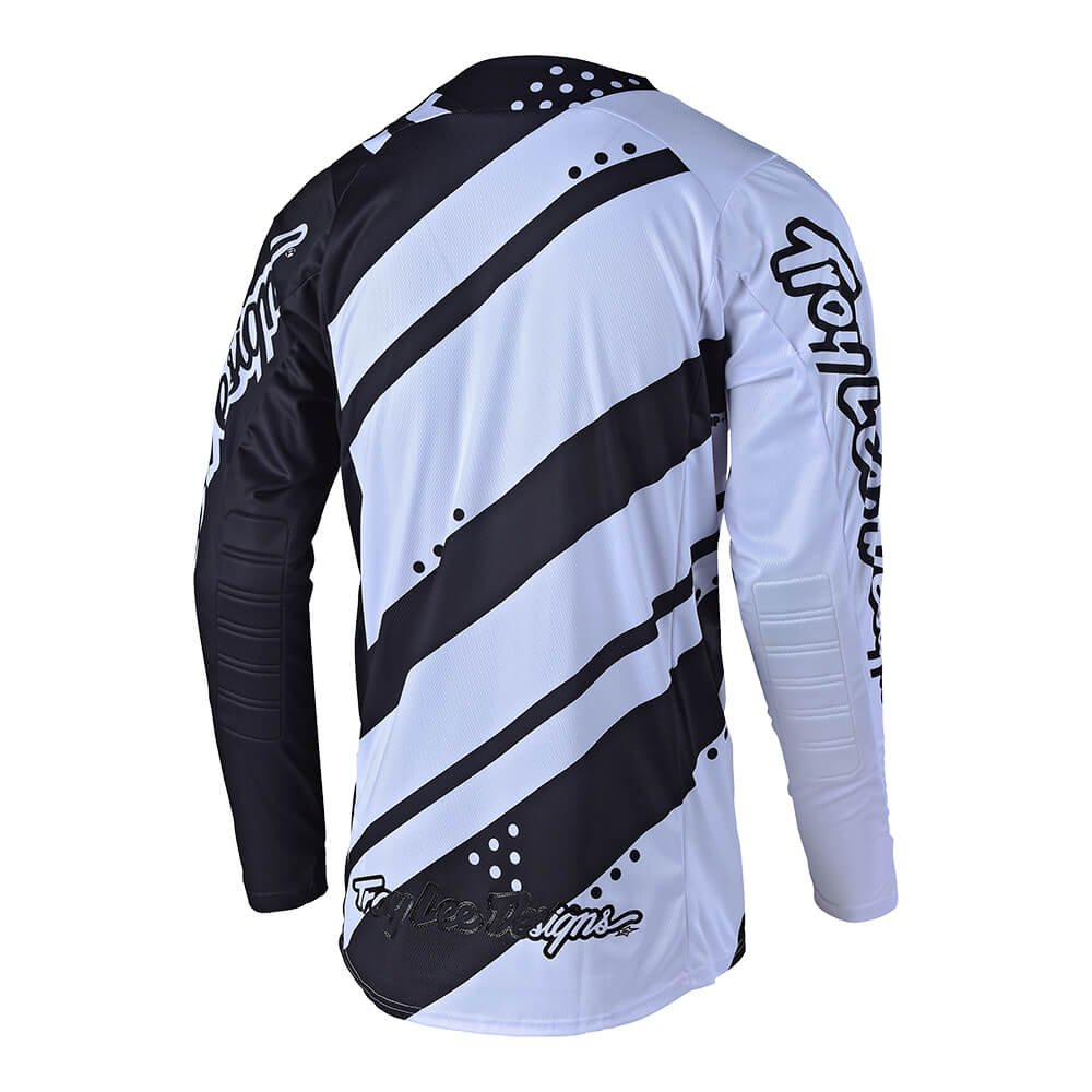 Troy Lee Designs Mens Off-Road Motocross SE Shadow Jersey White//Black, Medium