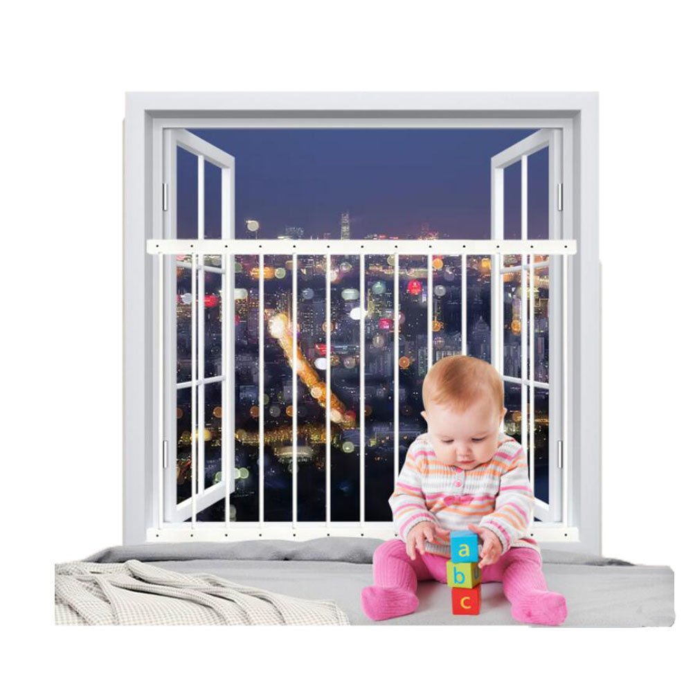 Fairy Baby Removeable Child Safety Window Guards Indoor,Fit 31.8-36.6 Inches Wide