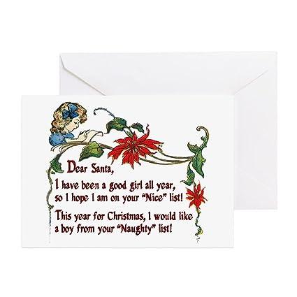 amazon com cafepress naughty boys for christmas greeting