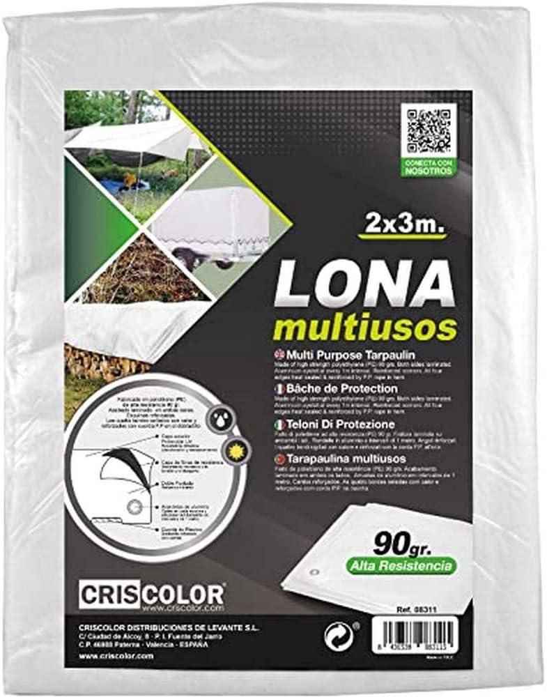 Criscolor Lona Multiuso 3 x 4 m, Blanca, '41311