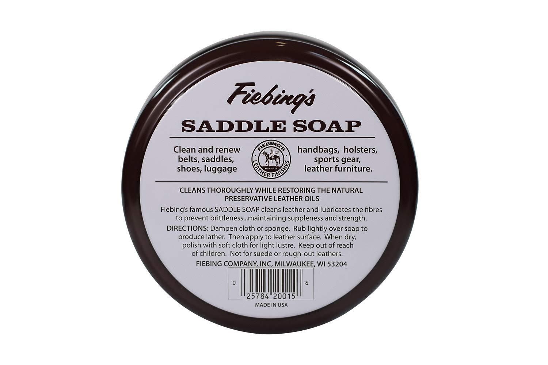 Fiebings Saddle Soap White Polish Cleans Leather Renew ...