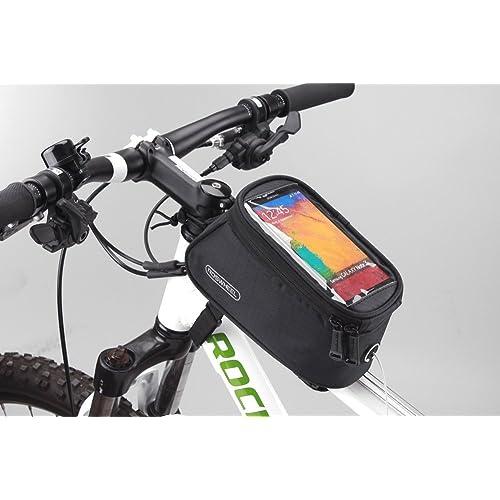 Roswheel Bolso de Bicicleta para Ciclista Ciclismo con Bolsa Transparente y Táctil para Poner Adelante o