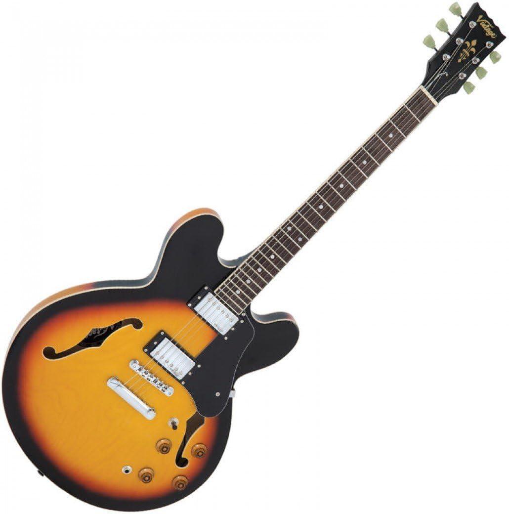 Guitarra semiacústica vintage VSA500 Sunburst