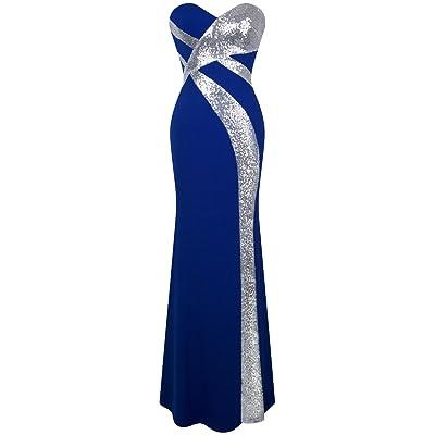 Angel-fashions Femme Sans bretelles Amoureux Sillonner Classique Noir blanc Robe de soiree