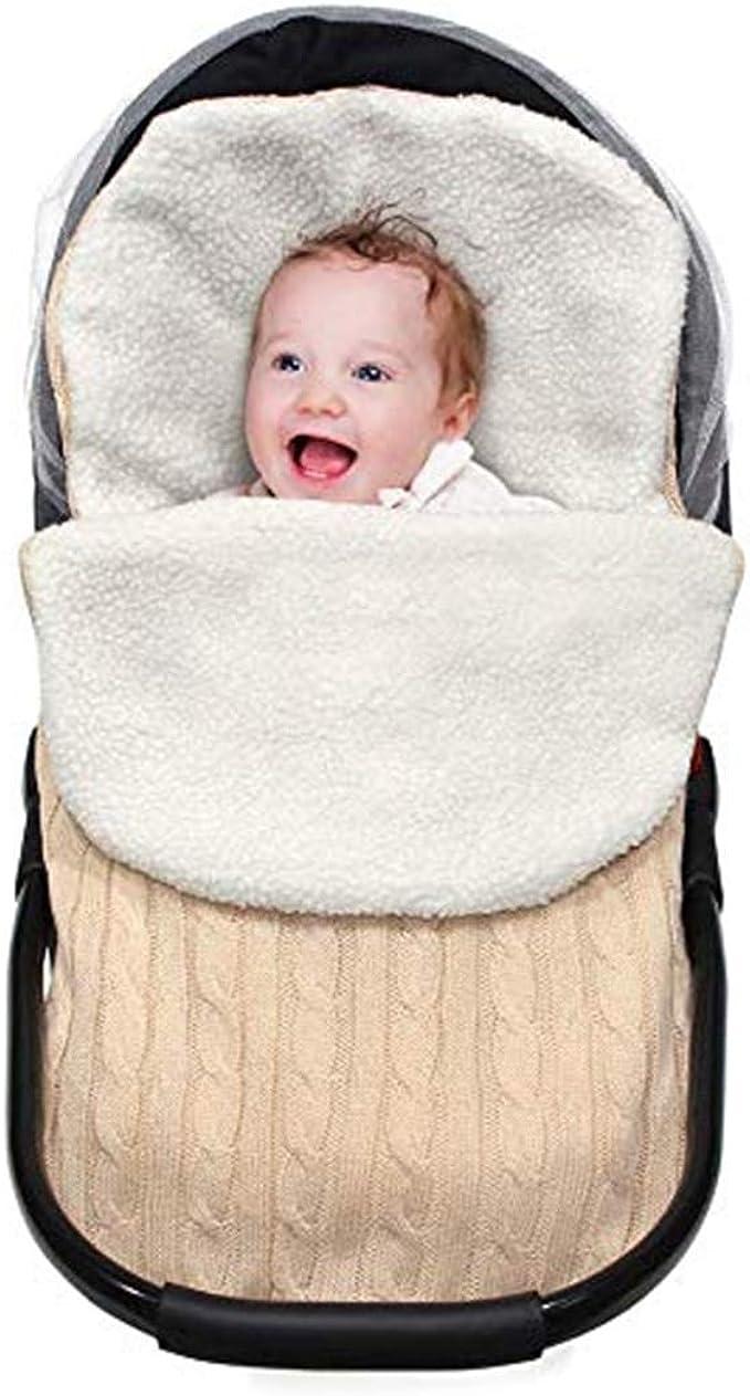 XMWEALTHY Baby Girls Boys Wrap Swaddle Blankets Newborn Infant Knit Plush Receiving Blankets Sleeping Sack Blue