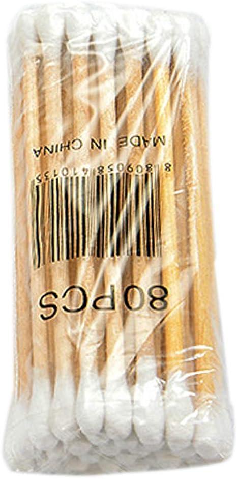 Huafi 30 unidades de bastones de algodón desechables de doble cabeza para limpieza de orejas, nariz, cuidado de la salud y herramientas de maquillaje: Amazon.es: Belleza