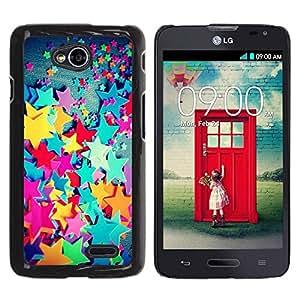 Estuche Cubierta Shell Smartphone estuche protector duro para el teléfono móvil Caso LG Optimus L70 / LS620 / D325 / MS323 / CECELL Phone case / / Plastic Color Kids Girl'S Girly