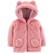 Carter's Baby Girls' 3M-24M Hooded Sherpa Jacket 3 Months, Pink