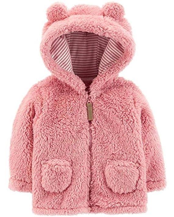 2fe33671f6ab Amazon.com  Carter s Baby Girls  Sherpa Jacket (Baby)  Clothing