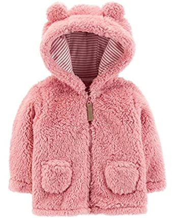 7b54eab8e Amazon.com  Carter s Baby Girls  Sherpa Jacket (Baby)  Clothing