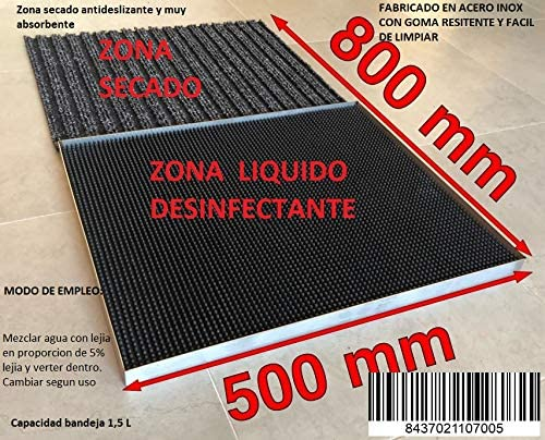 MI CASA Felpudo desinfectante Entrada, Alfombrilla, liquido desinfectante, Calzado, Zapatos: Amazon.es: Hogar