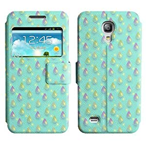 Be-Star Colorful Printed Design Slim PU Leather View Window Stand Flip Cover Case For Samsung Galaxy S4 mini / i9190 / i9192 ( Cute Drops ) Kimberly Kurzendoerfer