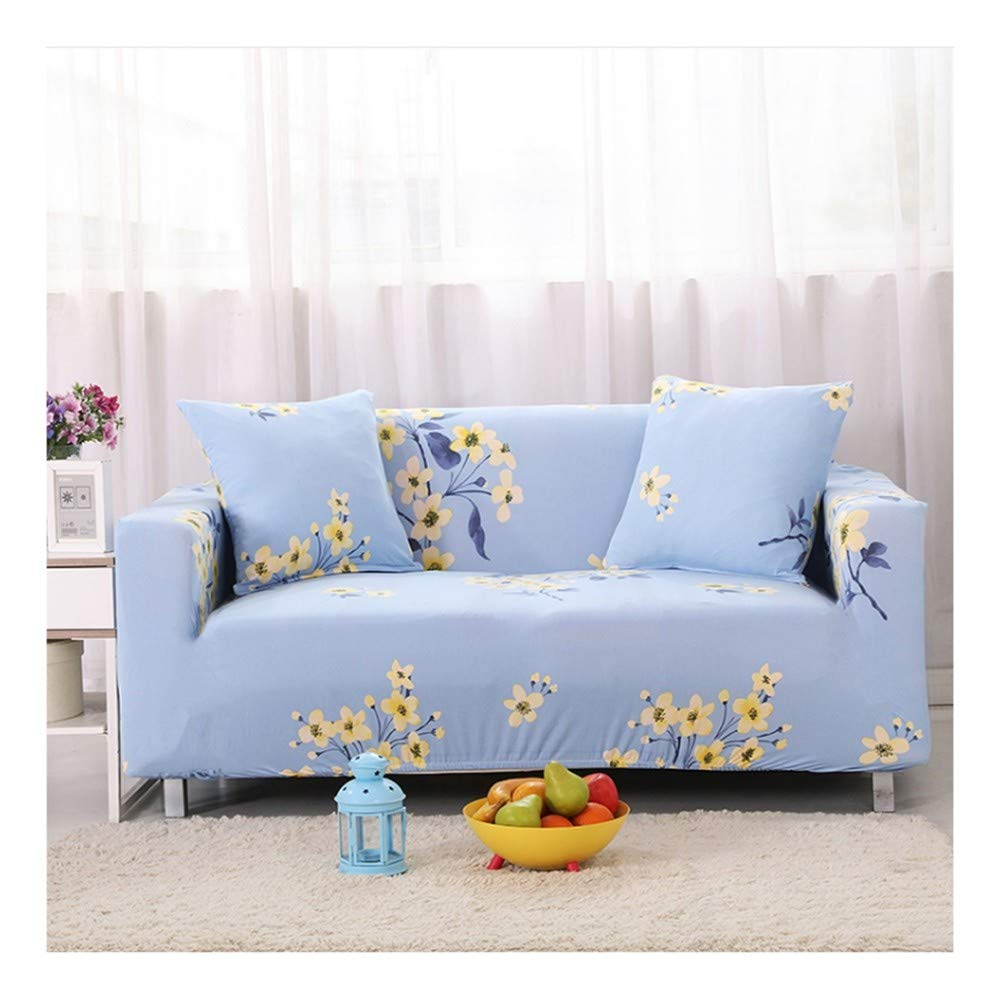 4seat VGUYFUYH Floral Pattern Four Seasons Universal Non-Slip Sofa Cover Polyester All-Inclusive Elastic Home Universal Sofa Cover Simple Fashion One Set Durable Dust Pet Dog Predective Cover,4Seat