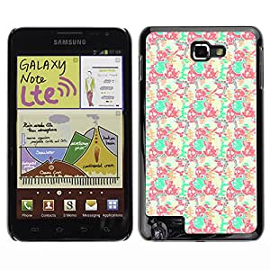 ZECASE Funda Carcasa Tapa Case Cover Para Samsung Galaxy Note I9220 No.0001895