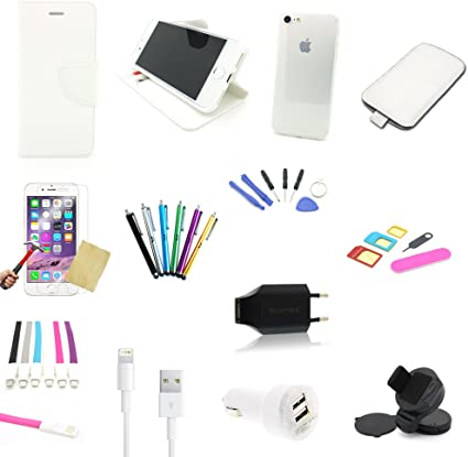skgames 30 piezas Apple iPhone 7 & iPhone 8 Juego de accesorios Pack Paquete | Mega Pack, color blanco: Amazon.es: Electrónica