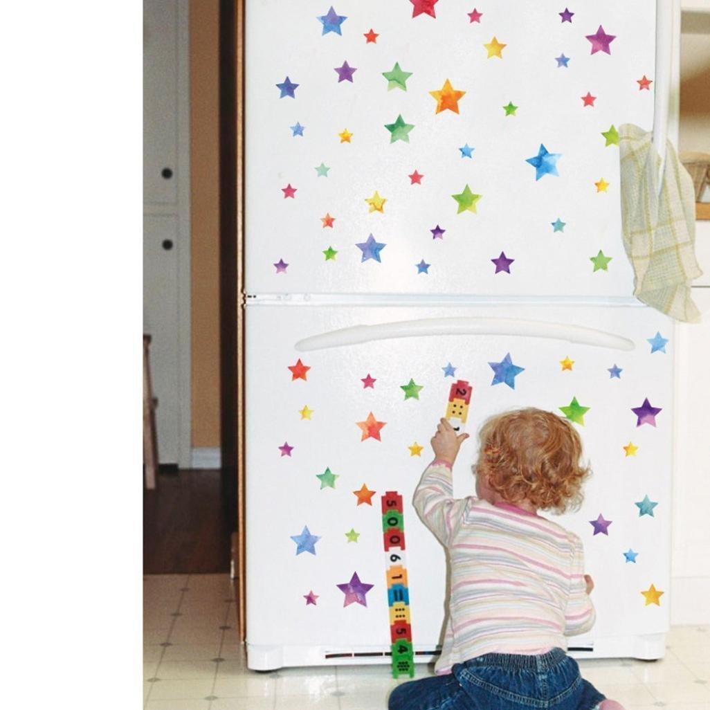 Kingko® New Fashion Multi-piece Package Five-star Shape Wall Furniture Window Refrigerator Stickers DIY Home Children's Room Decor Art Wall Circle Decals (B) BHBAZUKLIK768