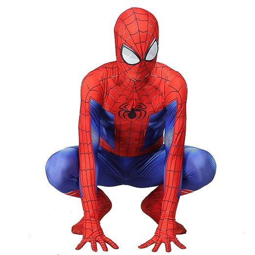 CVFDGETS Traje De Spiderman Niño Adulto Disfraz De Halloween ...