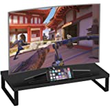 Need Black Computer Monitor Stand -50cm Desk with Tablet & Phone Holder AG6CB(5023)