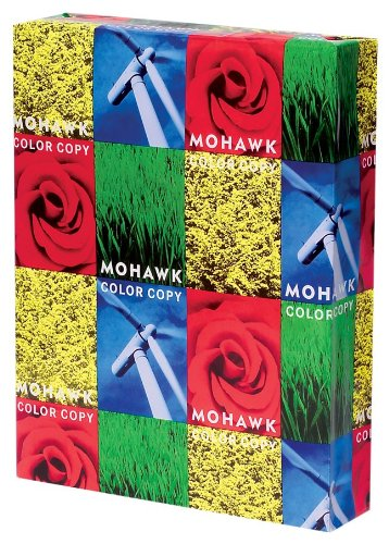 Mohawk Color Copy Gloss Paper 96, 32 lb, 8.5 x 11 Inch, 500 Sheets/Ream - Sold as 1 Ream,Bright Pure White Shade (36-101)