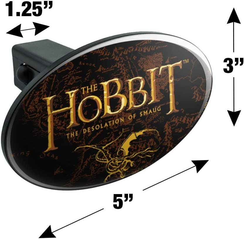 Graphics and More The Hobbit The Desolation of Smaug Logo Oval Tow Trailer Hitch Cover Plug Insert