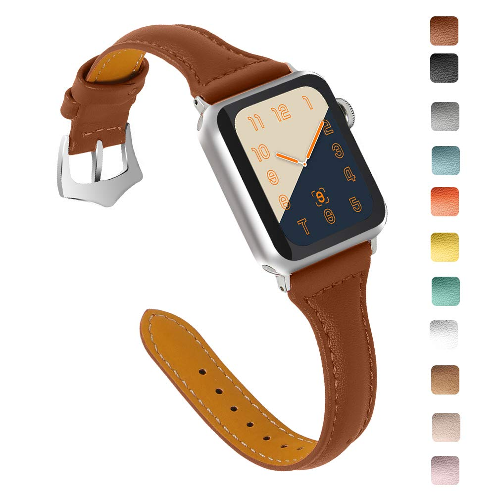 OULUCCI Compatible Apple Watch Band 38mm 40mm, Top Grain Leather Band Replacement Strap for iWatch Series 4,Series 3,Series 2,Series 1,Sport, Edition by OULUCCI