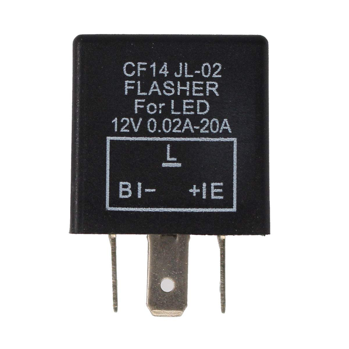 XtremeAmazing 3 Pin CF14 EP35 Electronic Flasher Relay For Car Vehicle LED Turn Signal Light Bulbs Hyper Blink Flash Fix